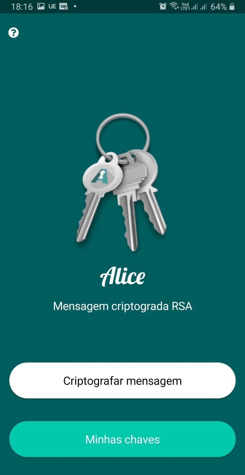 Encrypted message with RSA key pair